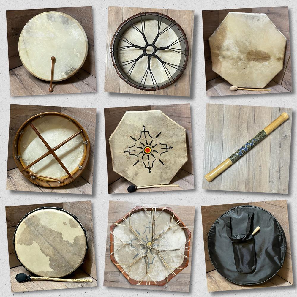 Trommeln, Klagschalen & Musikinstrumente