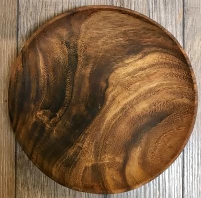 Holz Teller - Akazienholz rund - 20cm Durchmesser