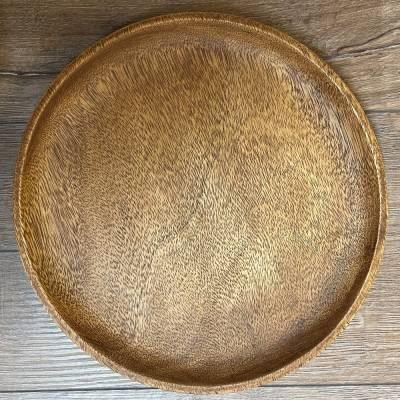 Holz Teller - Akazienholz rund - 25cm Durchmesser