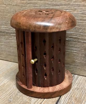 Räucherkerzen - Räucher-Kegelbrenner - Sheesham Holz mit Tür