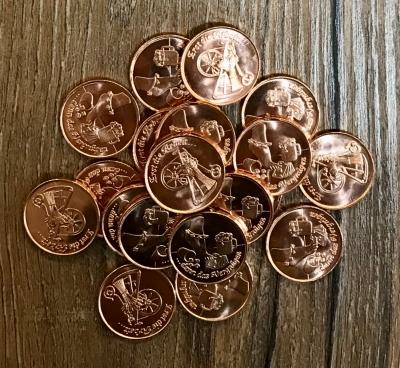 Volksmünzen* Set - Erst die Arbeit... - 20 Stück - Achtung kleine Version!