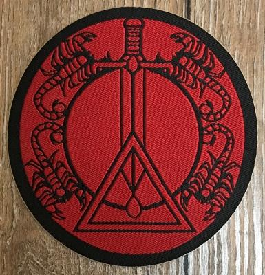 Aufnäher Patch Aufkleber - gewebt - DSA Kor - 8cm - schwarz/ rot