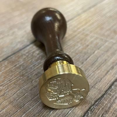Siegel - Motiv Rose 2 - 24mm - inkl. Griff