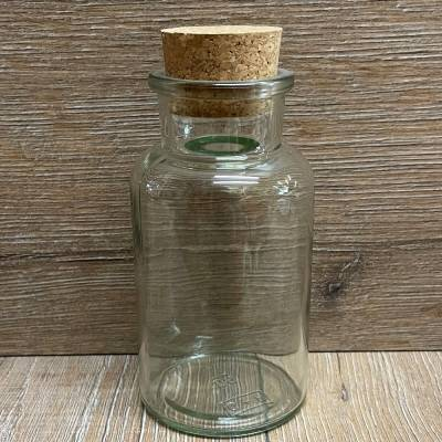 Glas - Korkenglas - 300ml - rund mit Presskorken