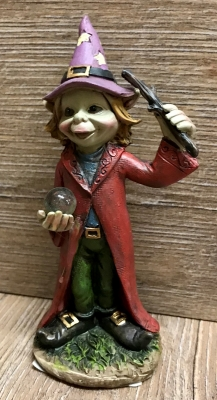 Figur - Pixies Zauberer Harry - Zauberstab & Kugel - Dekoration - Ausverkauf