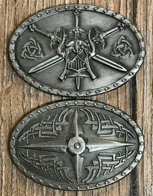 Larp Münze - FantasyCoins - Barbaren - silber