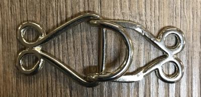 Schließe aus Metall - Gewand - Haken - silber