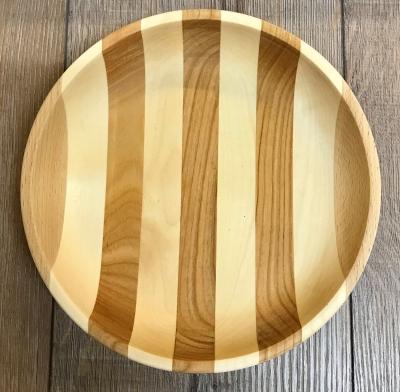 Holz Schale - Ahorn, Buche & Kirsche - mehrfarbig - 21,5cm x 4cm