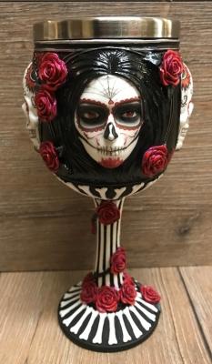 Kelch mit Stahleinsatz - Dia de los Muerte, Sugar Skull Goblet - James Ryman