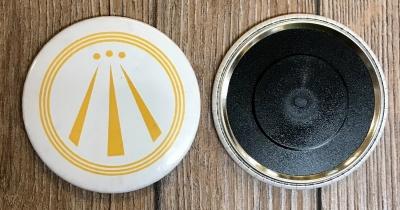 Magnet 59mm - AWEN - OBOD Druiden Symbol - weiss