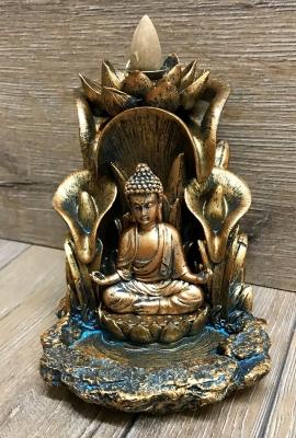Räucherkerzen - Räucher-Kegelbrenner - Backflow - Buddha & Lotus
