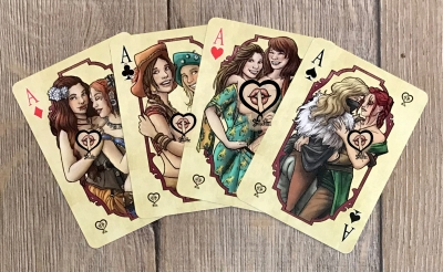 Kartenspiel - Frivolitas Damenset - Pokerkarten - roter Kartenrücken - Vorbestellung