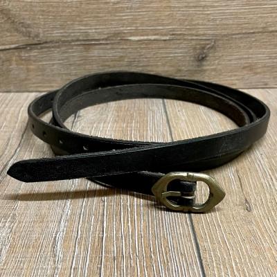 Gürtel - Leder - Godfrey - schmal - 170cm - schwarz