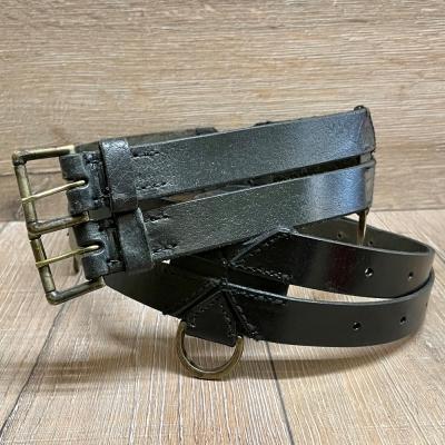 Gürtel - Leder - Twin Belt - 120cm - schwarz