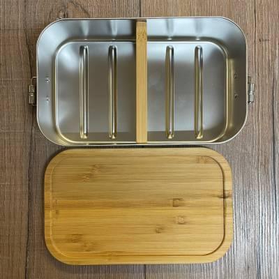 To-Go - Trennsteg für Eco & Eco Click Lunchbox Edelstahl mit Bambusdeckel - 1100ml - Sammelbestellung möglich ab 1,68€ netto