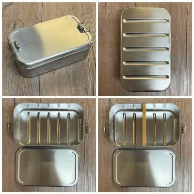 To-Go - Eco Click Lunchbox Edelstahl - 1100ml - Einzelstück