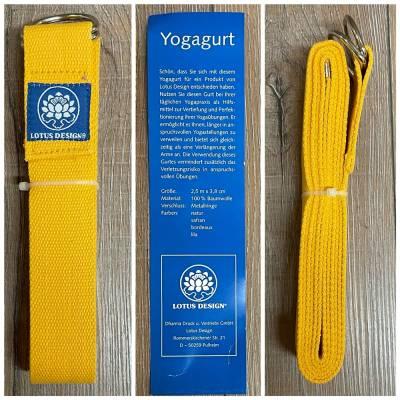 Yoga - Yogagurt - safran - Ausverkauf