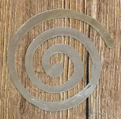 Chrome Aufkleber - Spirale