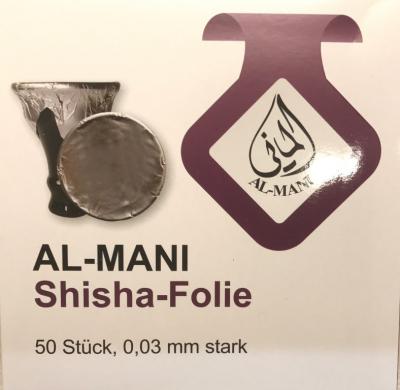 Shisha - Alufolie Al-Mani XXL 50 Stück - extra dick