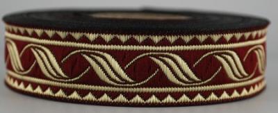 19014-brdx - Borte Blätterranke - 10m - 19mm breit - Mittelalter LARP Karneval