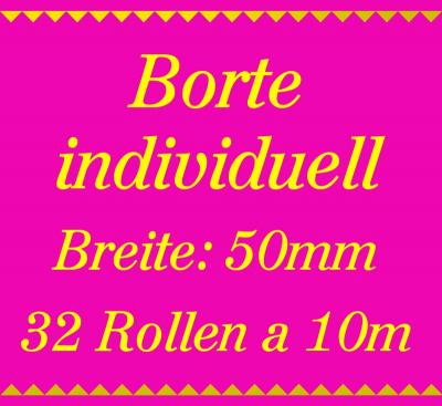 Individuelle Borte 2 Farben - 50mm breit - 320m - 10m Rollen