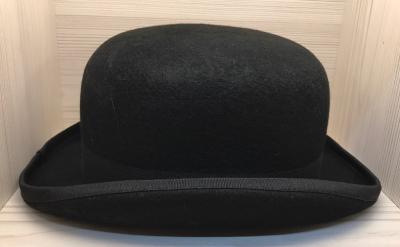 Melone - Bowler - schwarz - 59cm (L)