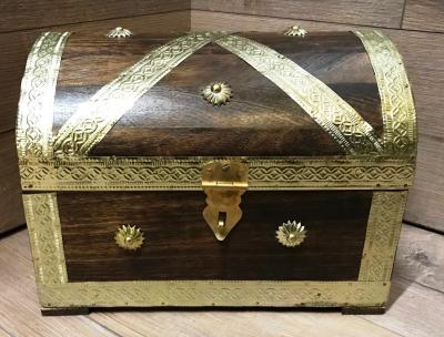 Truhe Piratenkönig - Größe 3 - Schatz Aufbewahrung Versteck