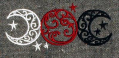 Umhänge- Tasche grau - Triple Moon/ Dreifacher Mond/ Göttinnen Symbol