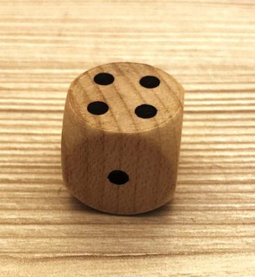 Würfel aus Holz - natur - 20mm