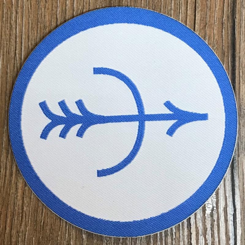 DSA 07 Firun Aufnäher Patch Aufkleber 8cm weiß// eisblau gewebt