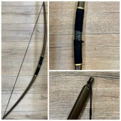 Bogen - PU-umschäumt - 140 cm - coloriert mit Lederumwicklung - Ausverkauf