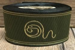 5m DSA Borte 06 - Hesinde olive/gold- 33mm breit - Mittelalter LARP Karneval