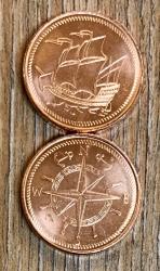 Larp Münzset* 00 - 100 Kupfer - inkl. Baumwollbeutel
