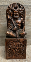 Statue - Sitzender Gott - Seated God - Holzfinish - Dekoration - Ritualbedarf
