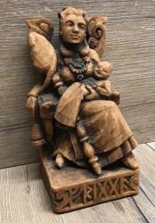 Statue - Frigga sitzend - Seated Frigga - Holzfinish - Dekoration - Ritualbedarf
