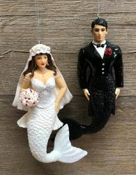 Glamour Nixen - Hochzeitspaar Lili & David - 2er Set - Hänger - Auslaufartikel