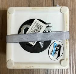 Spardose - Geschenk, Keramik, weiss - 8x8cm