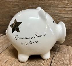 Spardose - Sparschwein Birthday - Ein neuer Stern ist geboren