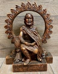 Statue - Sonnengott - Lugh - Holzfinish - Dekoration - Ritualbedarf