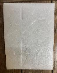 3D Stern weiß Größe A1 - ca. 8cm hoch - 5er Set