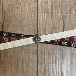 Handfasting Band - 19mm - 3x Pentagramm & Celtic Star altsilber