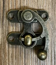 Schließe Hakenschließe XL - Farbe: Antik-Messing - schwere Ausführung