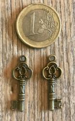 Anhänger - Charm - Schlüssel - Farbe: Antik Bronze