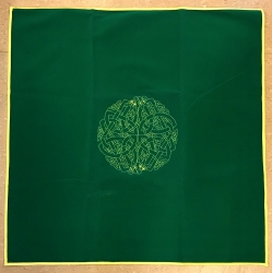 Tarot Decke - Tarot Cloth - Keltisches Labyrinth - Celtic Labyrinth - 80x80cm