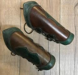 Palnatoke - Leather Works - Armschienen Elven - braun - M - Ausverkauf