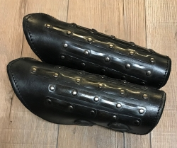 Palnatoke - Leather Works - Armschienen Mercenary/ Söldner - schwarz - L - Ausverkauf