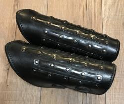 Palnatoke - Leather Works - Armschienen Mercenary/ Söldner - schwarz - M - Ausverkauf