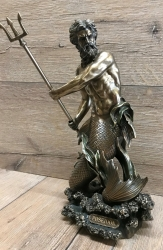 Statue - Poseidon - griechischer Gott des Meeres - Dekoration - Ritualbedarf