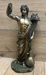Statue - Dionysos mit Trauben & Füllhorn - griechischer Gott des Weines - Dekoration - Ritualbedarf