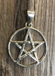 Anhänger - Amulett - Pentagramm klein - silberfarben